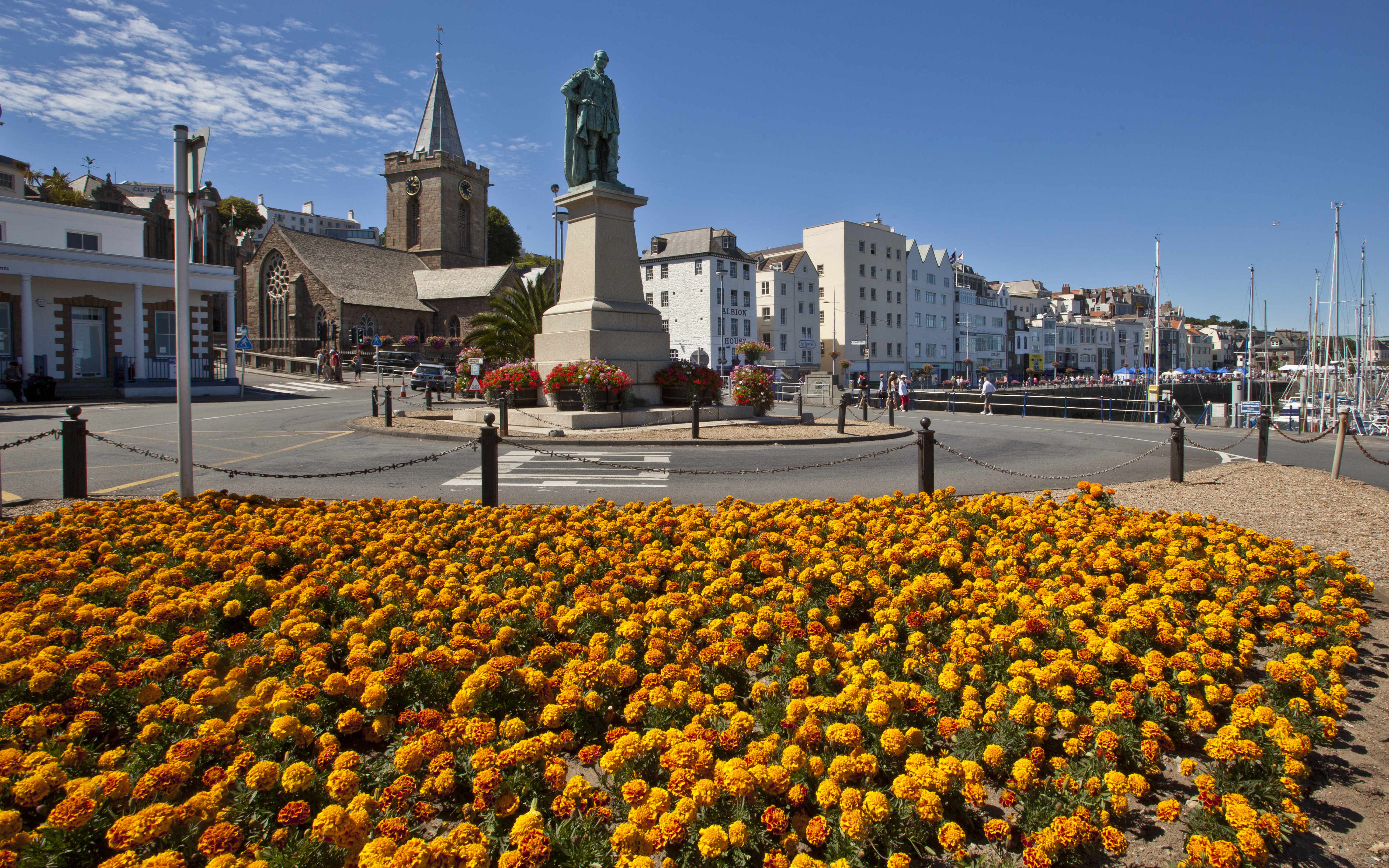 Guernsey - flowers-and-town