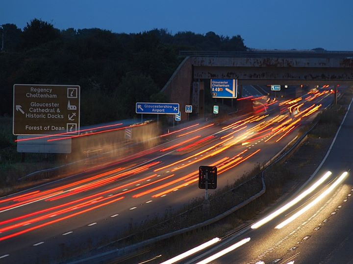 GLO directions off motorway
