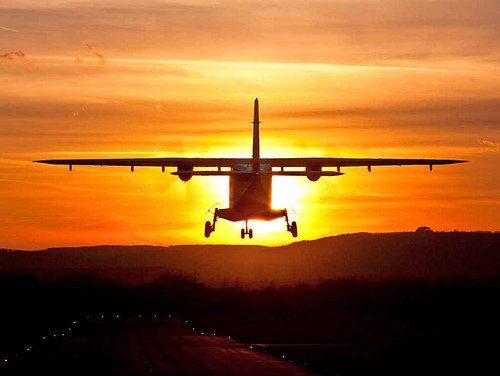 GLO sunset plane
