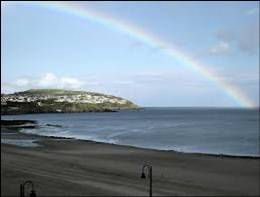 Empress beach and rainbow